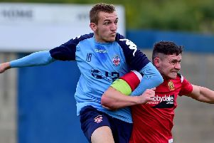 Oliver Fearon bagged a hat-trick as Liversedge hit double figures against Handsworth in the Northern Coutnies East League Premier Division last Saturday. Picture: Paul Butterfield