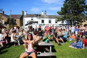 Festival-goers enjoying themselves at a past Morecambe Music Festival. Photo: Mike Jackson.