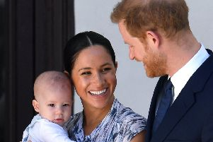 The Duke and Duchess of Sussex, with their son Archie, during the family's official visit to South Africa last September.