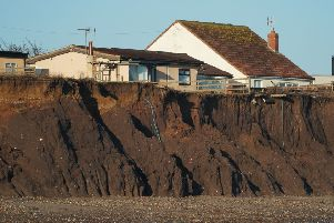 Coastal erosion has left homes in Skipsea, and along the Holderness coast, perilously close to the cliff.