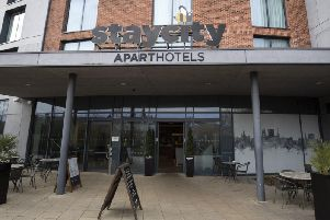 The hotel where the two people were staying in York. Credit: PA