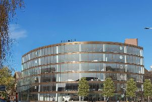 An artist's impression of the restored Monocle building