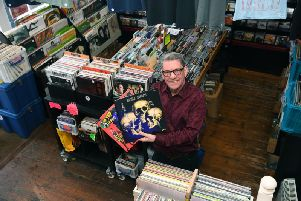 Paul Toole in his Scarborough shop, Record Revivals