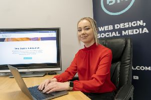 Melissa Roberts launched web design agency Beanie Media at the age of 18. Picture: Scott Merrylees