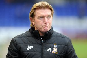 Last game in charge: Banthams manager Stuart McCall after defeat at Oldham in 2018.  Picture: Tony Johnson