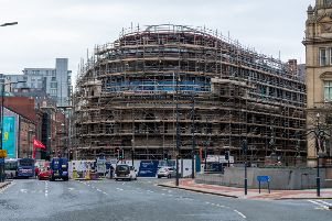 On going construction work at Majestic in Leeds, which will become home to Channel 4. 'Picture James Hardisty.