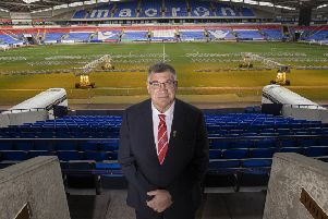 Shaun Wane is unveiled as the new England head coach in Bolton earlier this week. Picture by Paul Currie/SWpix.com