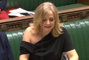 Tracy Brabin received criticism for the shoulder-baring dress in the House of Commons on Monday