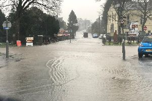 Flooding in Hawes. Photo: Thomas Beresford