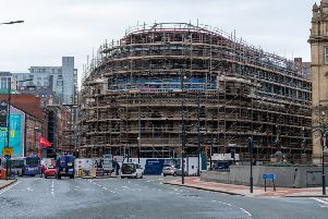 Date: 17th January 2020.'Picture James Hardisty.'On going construction work at the Majestic, Wellington Street, Leeds, which will become home to Channel 4.
