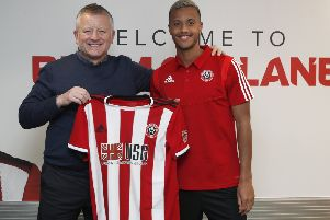 Chris Wilder manager of Sheffield United with new signing Richairo Zivkovic (Picture: Simon Bellis/Sportimage)