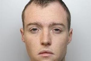 Jordan Taylor, 26, from Rotherham was jailed after stabbing his ex-girlfriend in the stomach.