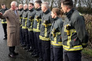 The Prince of Wales prepared firefighters for their response to the Fishlake floods when he visited South Yorkshire just before Christmas.