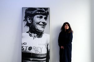 Photographer Jude Palmer pictured with her exhibition Shines a Light on what makes Leeds Great and gives the North a voice, at the Platform Building, Leeds. Picture by Simon Hulme