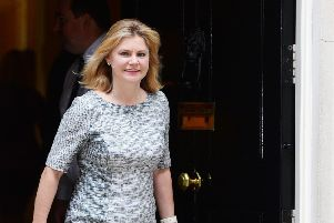 Justine Greening leaves 10 Downing Street on the day she became Education Secretary - her dream job - in July 2016.