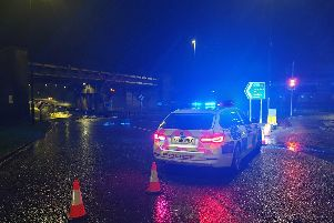 The flooding in Hornsbridge in Chesterfield - pic Derby Roads Policing Unit