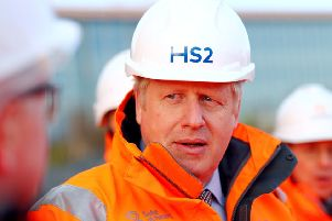 Boris Johnson has given hs backing to HS2.