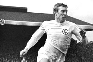 Leeds United and England striker Mick Jones.  (Photo by Evening Standard/Getty Images)