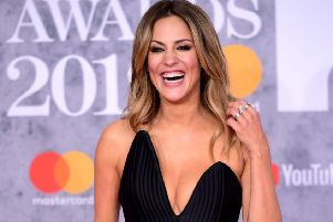 Caroline Flack pictures in February last year Ian West/PA Wire