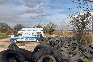 Workers from Sheffield's Protyre based helped the Yorkshire Wildlife Trust clear up thousands of illegally dumped tyres.