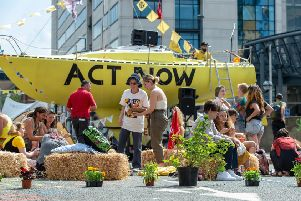 Extinction Rebellion protesters in Leeds last year.