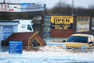 Flooding in the town of Snaith in East Yorkshire after the River Aire burst its banks Pic Danny Lawson/PA Wire