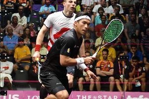 NO WAY THROUGH: Sheffield's Nick Matthew lost out to Nafiizwan Adnan in the quarter-finals of the men's singles on Saturday morning. Picture: England Squash