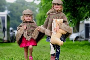 Bramham Horse Trials Day 1...Molly Kaye aged 5 with her sister Evie aged 2 from Rawdon, are pictured enjoying the day at Bramham.