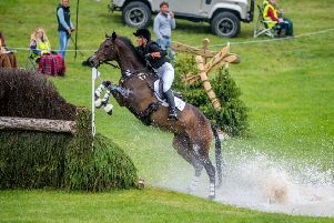YOU CAN DO IT: Harrogate's Hazel Towers and Simply Clover complete their first CCI three-star cross country at the 2018 Equi-Trek Bramham International Horse Trials. Picture by James Hardisty.