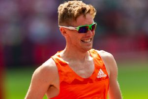 Great Britain's Tom Bosworth: Walking to record.