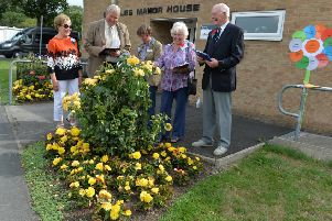 Britain in Bloom judges visit Scholes.'6 August 2018.  Picture Bruce Rollinson