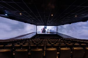 ScreenX, a 270 degree viewing experience is launched  in the UK at Cineworld Greenwich O2 with a showing of newly released title, Ant Man. '' Photo : Steven Paston/PA Wire