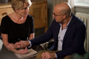 Emma Thompson as Fiona Maye with Stanley Tucci as her husband Jack.  (Picture:  PA Photo/Entertainment One).