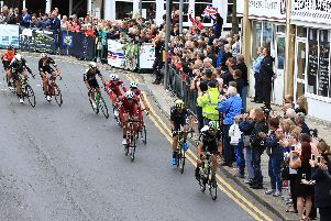 The Tour of Britain passes through Worksop in 2017.