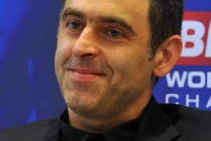 21 April 2018 .......    Ronnie O'Sullivan at the 2018 Betfred World Snooker Championship Media Launch at The Crucible, Sheffield.  Picture Tony Johnson.