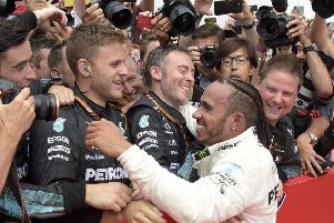 STAYING GROUNDED: Mercedes driver Lewis Hamilton. Picture: AP