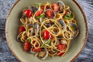 Linguine with clams, Gino's favourite at  Gino D'Acampo's restaurant