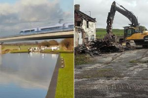 HS2: All the areas set to be bulldozed or changed (file photo of bulldozer, right)
