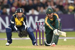 Nottinghamshire in action at Trent Bridge. (PHOTO BY: Simon Trafford)