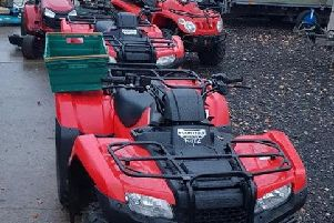 Lancashire Police recovered a number of stolen quad bikes, mowers and trailers from addresses in Leyland and Lostock Hall in on Friday, November 9.