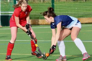 Garstang's man-of-the-match Lyndsey Hayes (left) on the attack