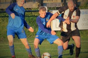 Alnwick Town in action v Newcastle East End  Picture by Steve Miller