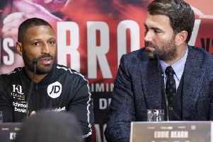 Kell Brook and Michael Zerafa final press conference in Sheffield ahead of their WBA Final Eliminator Super Welterweight Title fight on Saturday night in Sheffield.' ('Picture: Mark Robinson)