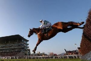 One of the leading fancies, Baron Alco, on his way to victory in the BetVictor Gold Cup, also at Cheltenham, last month.