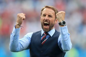 England manager Gareth Southgate: Got Three Lions roaring.