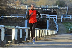 Ready to prove her winning mentality: Leeds 800m runner Alexandra Bell training by the Leeds-Liverpool canal at Apperley Bridge in preparation for a big year in 2019. (Picture: Tony Johnson)