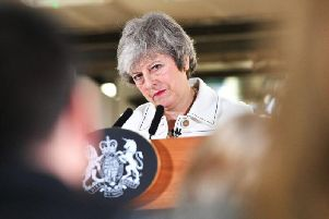 Theresa May visited Stoke-on-Trent this morning