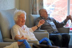 Yorkshire Dance has been working with residents at The Grove, Pudsey care home in a project aimed at tackling loneliness and isolation.  Pudsey Picture Tony Johnson.
