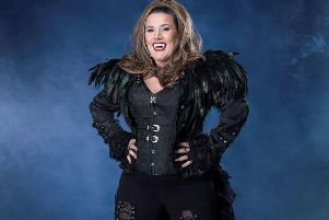 Sam Bailey who takes the role of the Vampire Queen