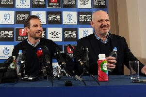 Huddersfield Town's new head coach Jan Siewert, left, pictured yesterday with chief executive officer Julian Winter at the club's training ground (Picture: Tony Johnson).